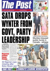 Post Newspaper Headline