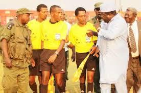 Kambwili confronting Ethopian referee