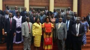 Edgar Lungu and Deputy Ministers