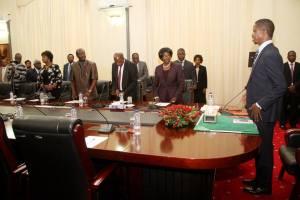 Edgar Lungu in Cabinet
