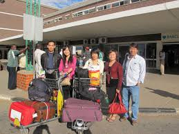 Chinese arrive at Airport